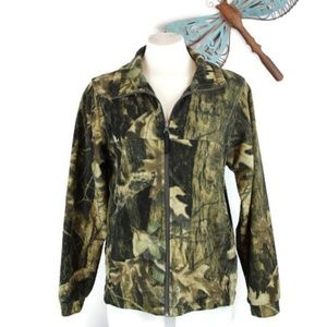 Columbia Camouflage Fleece Zip Up Jacket